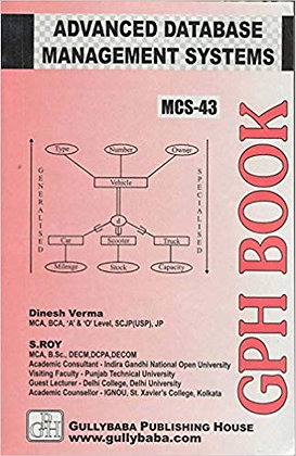 MCS-43 - Advanced Database Management Systems | IGNOU HelpBook | GPH |BooQs.in