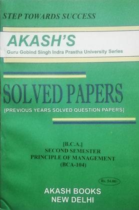 BCA 104 principle of Management 2nd Sem BCA GGSIPU Akash's Solved | BooQs.in