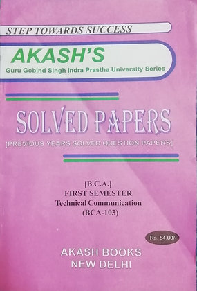 BCA-103 || Technical Communication || Akash's Solved Papers for GGSIPU