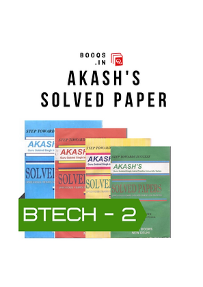 GGSIPU BTech Second Semester full Set of Akash's Solved Papers | BooQs.in