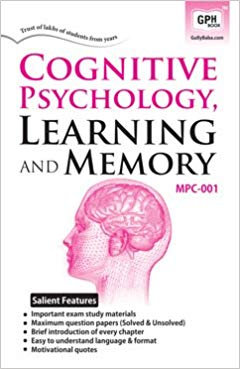 MPC-001 Cognitive Psychology, Learning & Memory | Gullybaba IGNOU Helpbook