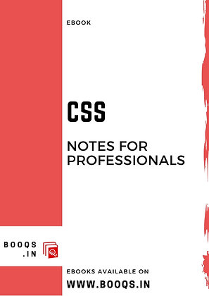 CSS Notes for Professionals - ebook by BOOQS.IN