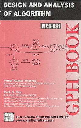 MCS-31 - Design & Analysis of Algorithm   IGNOU HelpBook   GPH  BooQs.in