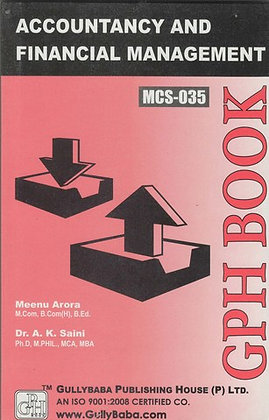 MCS-35 - Accountancy & Financial Management | IGNOU HelpBook | GPH |BooQs.in
