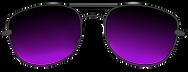 sunglasses black purple tint.png