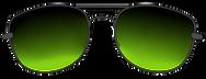 sunglasses black green tint.png