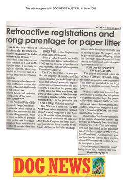 REGISTRATION IRREGULARITIES