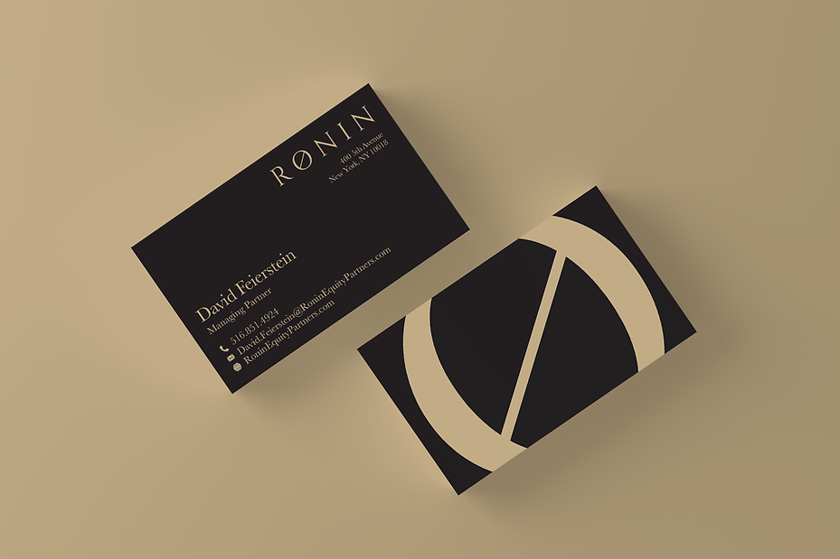 Business card design from ad agency Strike 2