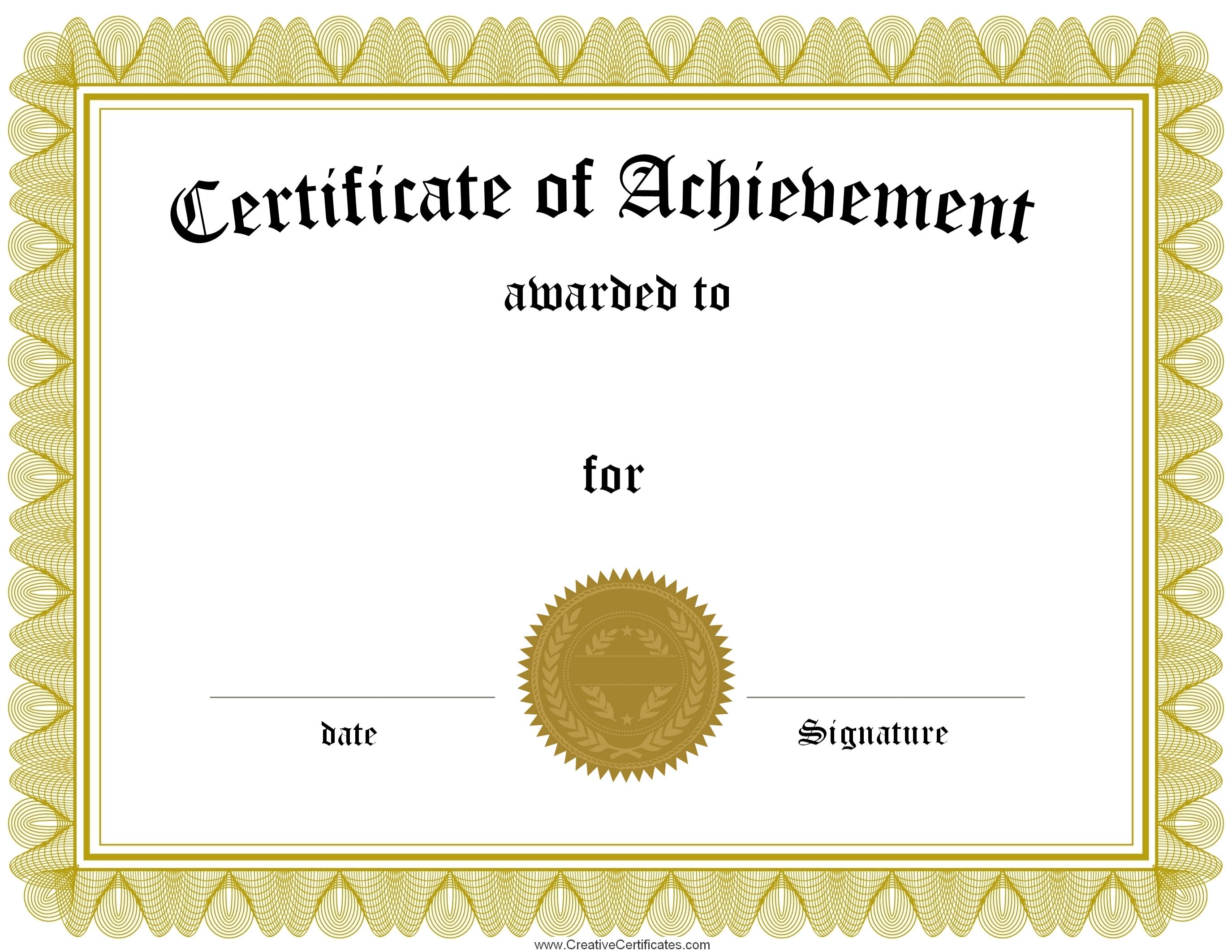 Certificate Awards Template