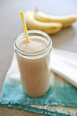 Chocolatey Peanut Buttery Banana Protein Smoothie