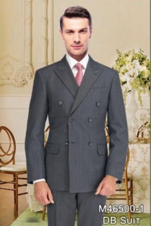Gray Birdseye Full Suit 100% Wool