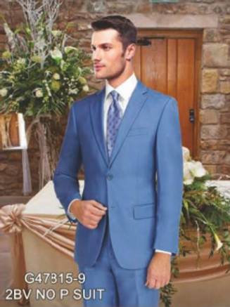Light Blue Suit Seperate Poly-Rayon