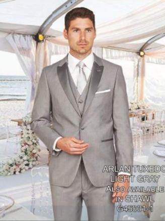 Solid Grey Tuxedo Poly-Rayon