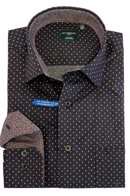 100% Cotton No Iron Spread Collar Sport Shirt