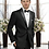 Thumbnail: Solid Black Tuxedo Suit Seperate 100% Wool
