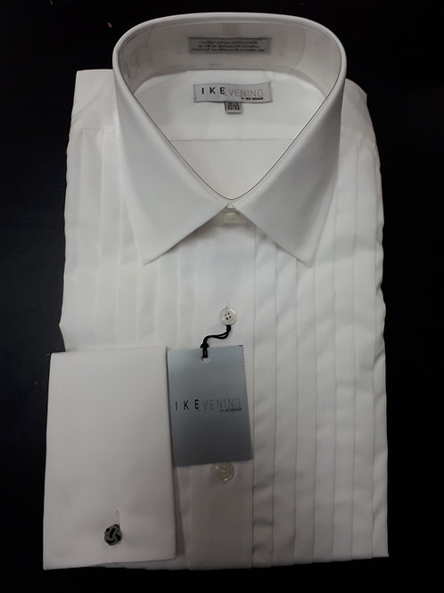 Laydown tux shirt, french cuff with 1/2 inch pleats