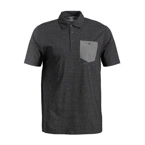 Men's Short Sleeve Heather effect Stretch Polo