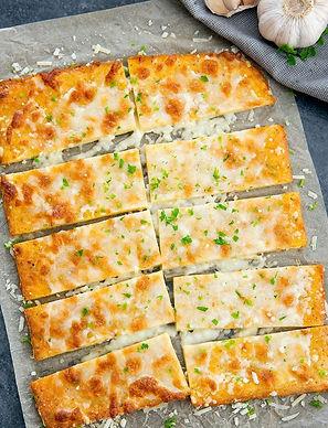 Cheesy No Bread Breadsticks