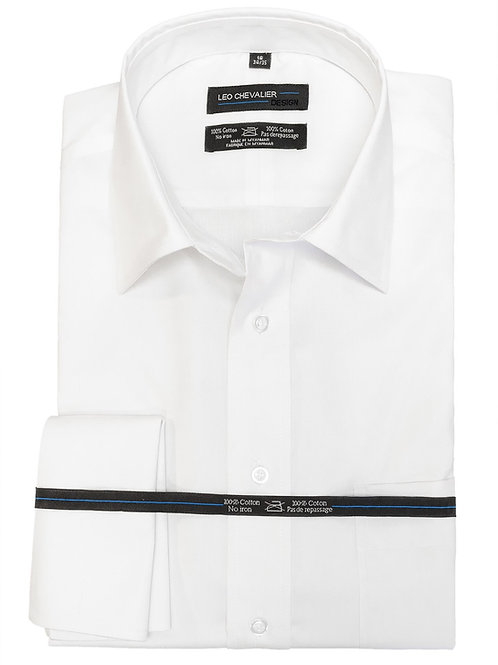 100% Cotton Non Iron Euro Spread Oxford Dress Shirt