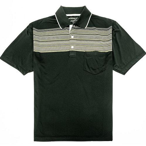 Men's Short Sleeve Stripe Tech Polo