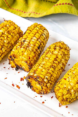 Blackened Corn Cobs