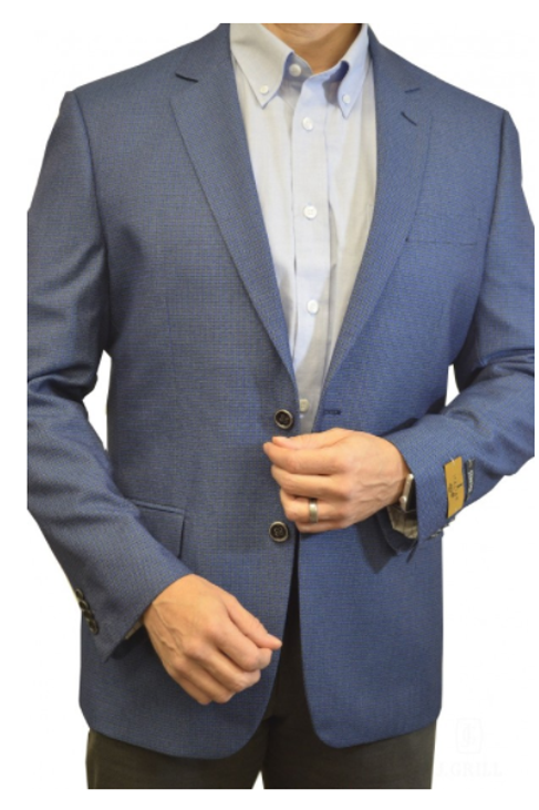 Versatile Men's Muted Check Pattern Sport Jacket