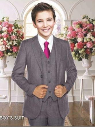 Boys Vest Full Suit Poly-Rayon