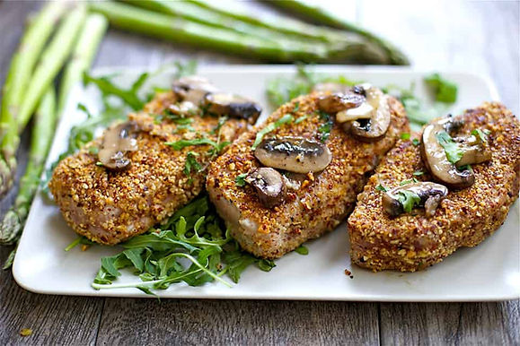 Almond-Crusted-Pork-Chops-with-Garlic-Mu