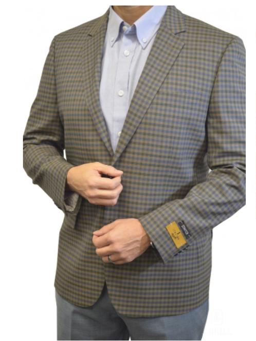 Versatile Men's Mini Check Pattern Sport Jacket