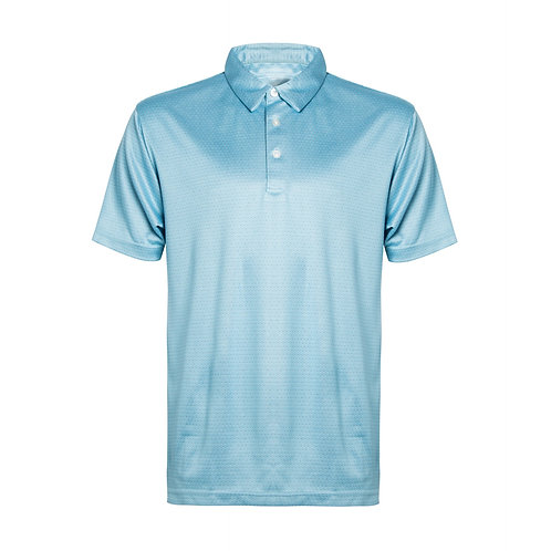 Men's short sleeve Striped Tech Polo with solid Collar and placket