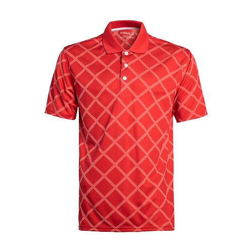 Men's Short Sleeve Printed Tech Polo