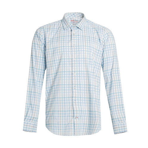 Men's Voyage Fitted Check Performance Stretch Shirt