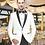 Thumbnail: Boys Snow White Tuxedo Black Lapel + Vest Poly-Rayon