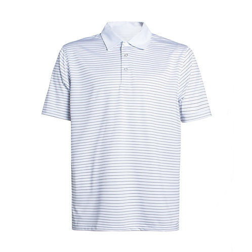 Men's Short Sleeve Striped Tech Polo w solid Collar