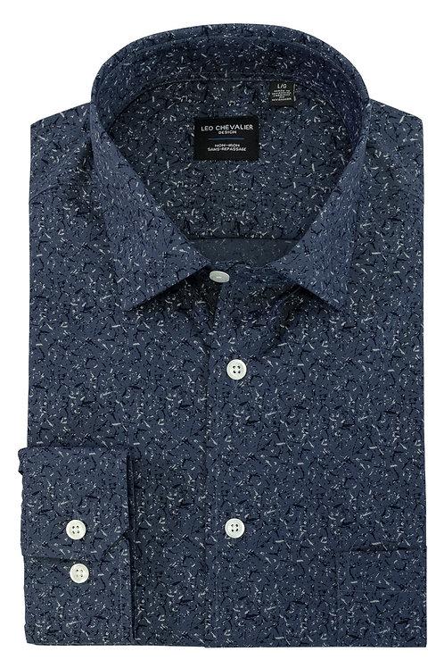 100% Cotton Non Iron Spread Collar Tall Fit Sport Shirt