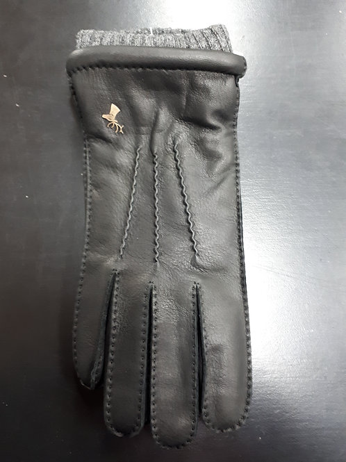 Leather glove with wool wrist and thinsulate insulation