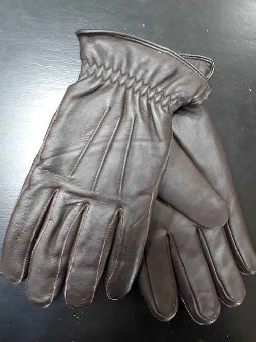 Leather glove with thermolite insulation