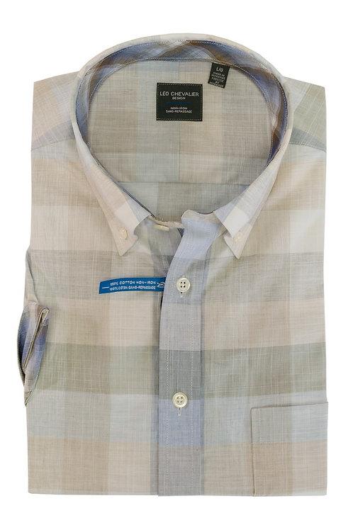 100% Cotton Non-Iron Collar Short Sleeve Sport Shirt