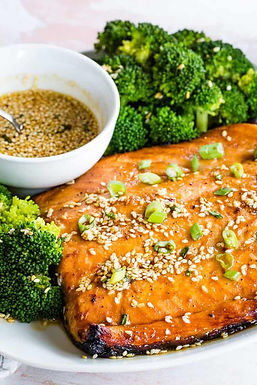 Broiled Salmon w/ Sesame Maple Glaze