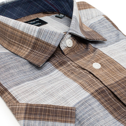 100% Cotton No Iron HBD Collar Short Sleeve Sport Shirt