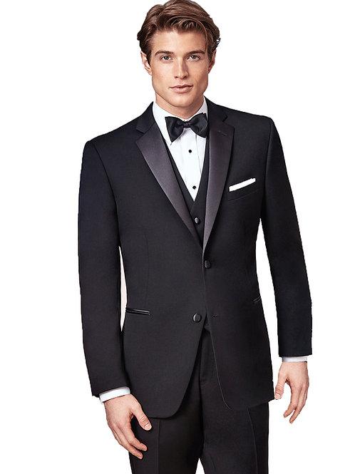 Parker Black Tuxedo 2 Button Notch Satin Lapel and Besom