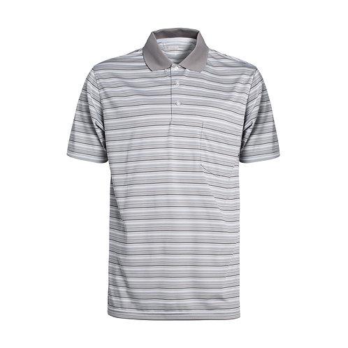 Men's Short Sleeve Tonal Striped Tech Polo