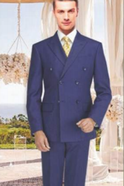 Ink Blue Suit Seperate Poly-Rayon