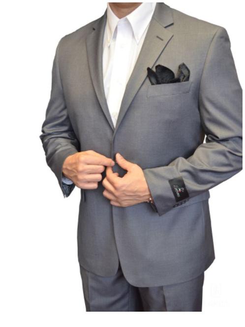 Mid-Grey 2-Piece Classic Suit