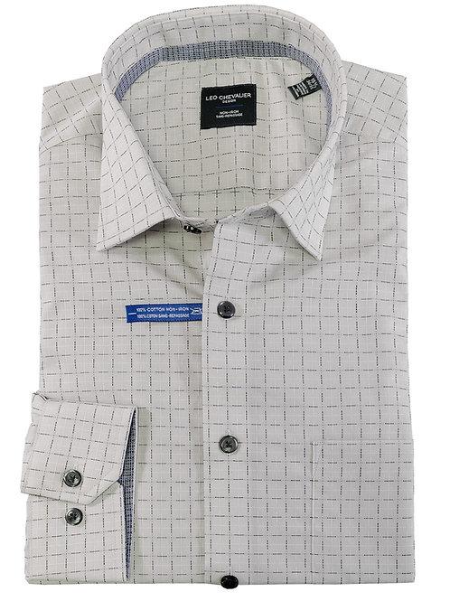 100% Cotton No Iron Spread Collar Dress Shirt