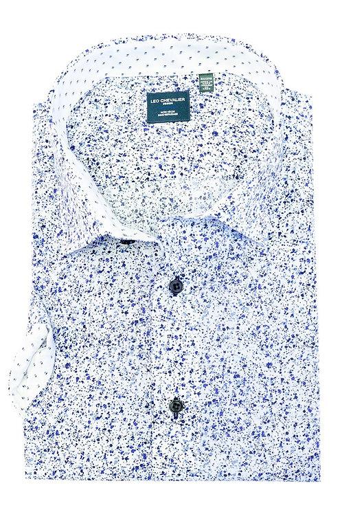 100% Cotton Non-Iron Print Spread Collar