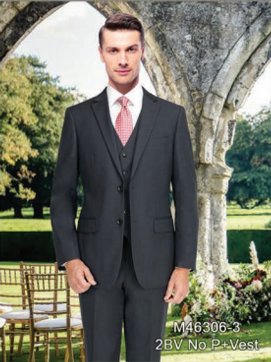 Solid Charcoal Suit Seperate 100% Wool