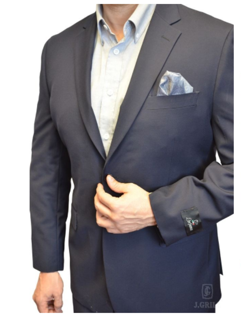 Navy Solid 2-Pc. Classic Suit