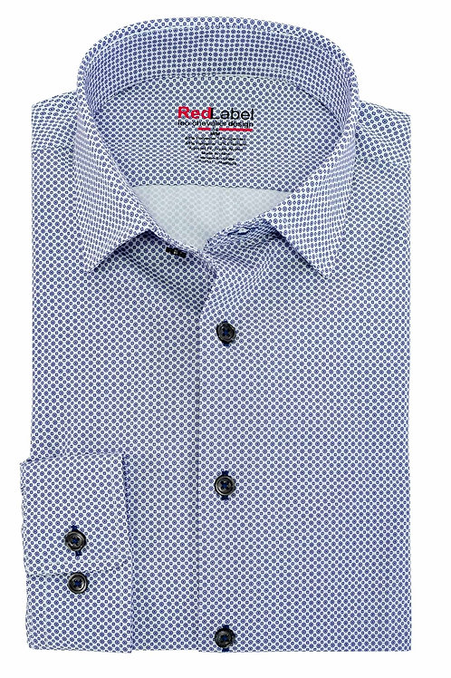 Men's Voyage Fitted Printed Performance Stretch Shirt Tall Fit