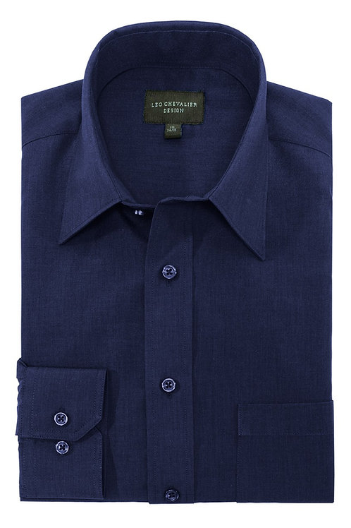 Micro Poly Traditional Spread, Solid Feather Dyed Dress Shirt